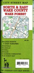 Wake County / Raleigh North & East Suburbs / Wake Forest, North Carolina Street Map by GM Johnson