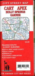 Cary / Apex / Raleigh South & West Suburbs, North Carolina Street Map by GM Johnson