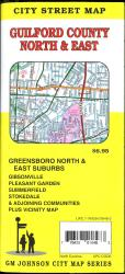 Guilford County North & East Street Map by GM Johnson