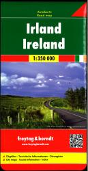 Ireland Road Map by Freytag, Berndt und Artaria