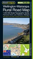 Wellington-Wairarapa, New Zealand, Rural Roads Topographic Map by Kiwi Maps