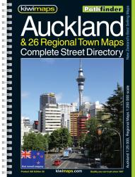 Auckland + 26 Towns, New Zealand Atlas by Kiwi Maps