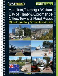 Hamilton, Waikato, Bay of Plenty, Coromandel, New Zealand Atlas by Kiwi Maps