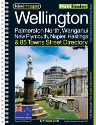 Wellington and Palmerston North, New Zealand Atlas by Kiwi Maps