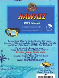 Hawaii Map, Big Island Dive, by Frankos Maps Ltd.
