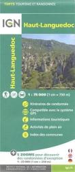 Haut-Languedoc, France 1:75,000 by Institut Geographique National