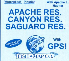 Apache/Canyon/Saguaro Fishing Map by Fish-n-Map Company