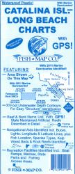 Catalina Island & Long Beach (Dana Point to Santa Monica Bay) Fishing Map by Fish-n-Map Company