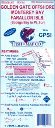 Golden Gate Offshore/Monterey Bay/Farallon Islands (Bodega Bay to Pt. Sur) Fishing Map by Fish-n-Map Company