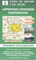 Alto Frignano Appennino Modenese Hiking Map by Edizioni Multigraphic