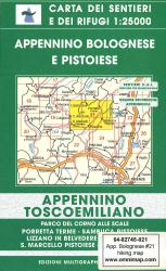Appennino Bolognese e Pistoiese Hiking Map by