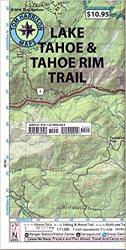 Lake Tahoe and Tahoe Rim Trail Recreation Map by Tom Harrison Maps