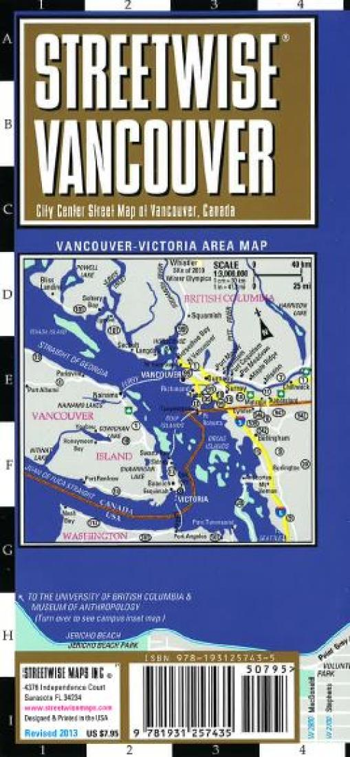 streetwise vancouver british columbia by streetwise maps inc