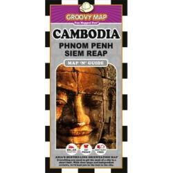 Cambodia, Phnom Penh and Siem Reap, Map 'n' Guide by Groovy Map Co.