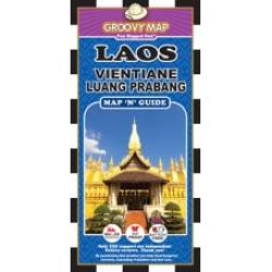 Laos, Vientiane and Luang Prabang, Map 'n' Guide by Groovy Map Co.