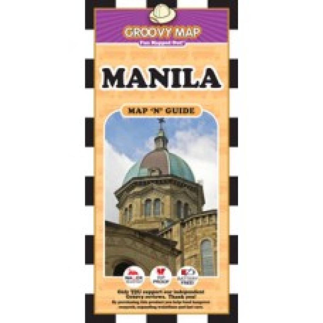 philippines map 'n' guide by groovy map co - manila philippines map 'n' guide by groovy map co