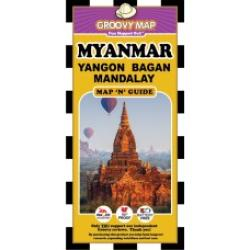 Myanmar, Yangon, Bagan and Mandalay, Map 'n' Guide by Groovy Map Co.