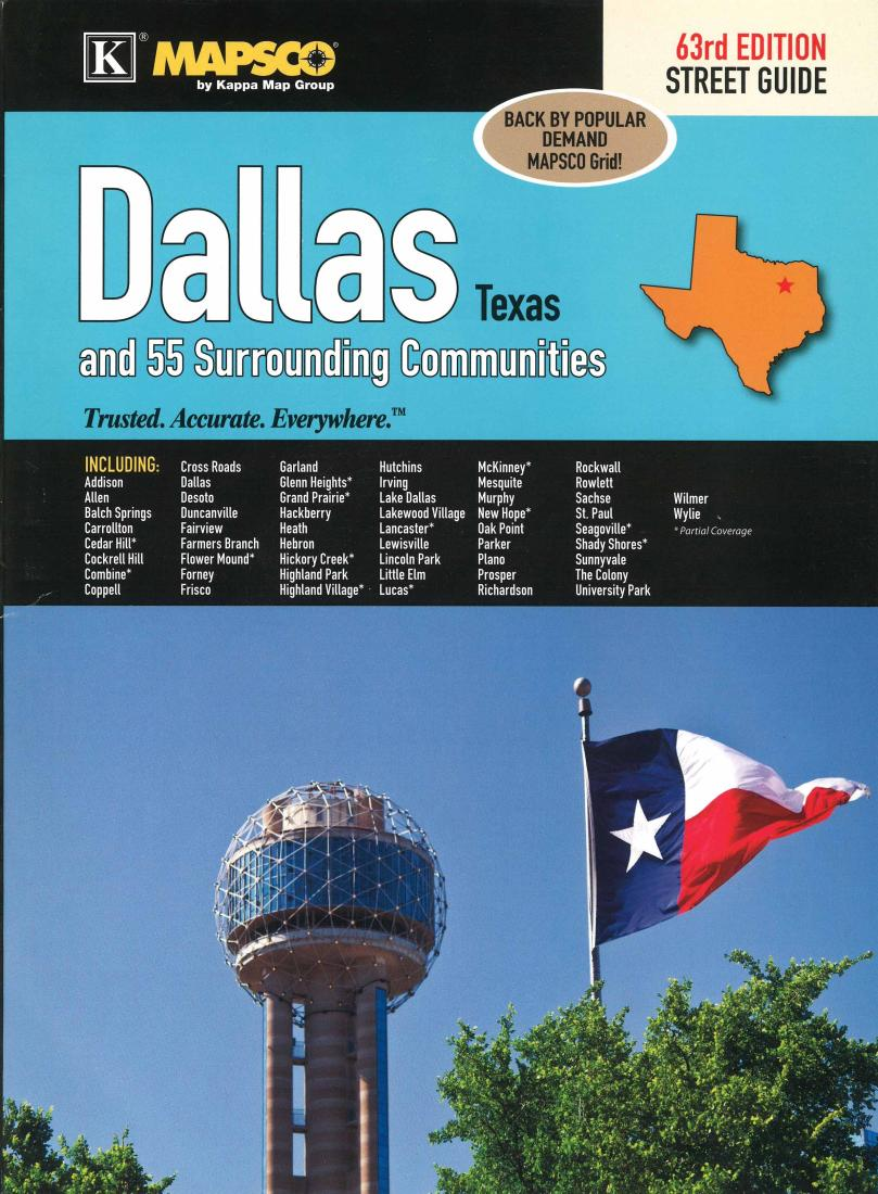 Flower Mound Zip Code Map.Dallas Texas Atlas And 55 Surrounding Communities By Kappa Map