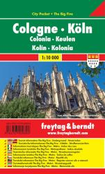 Cologne City Pocket Map by Freytag, Berndt und Artaria