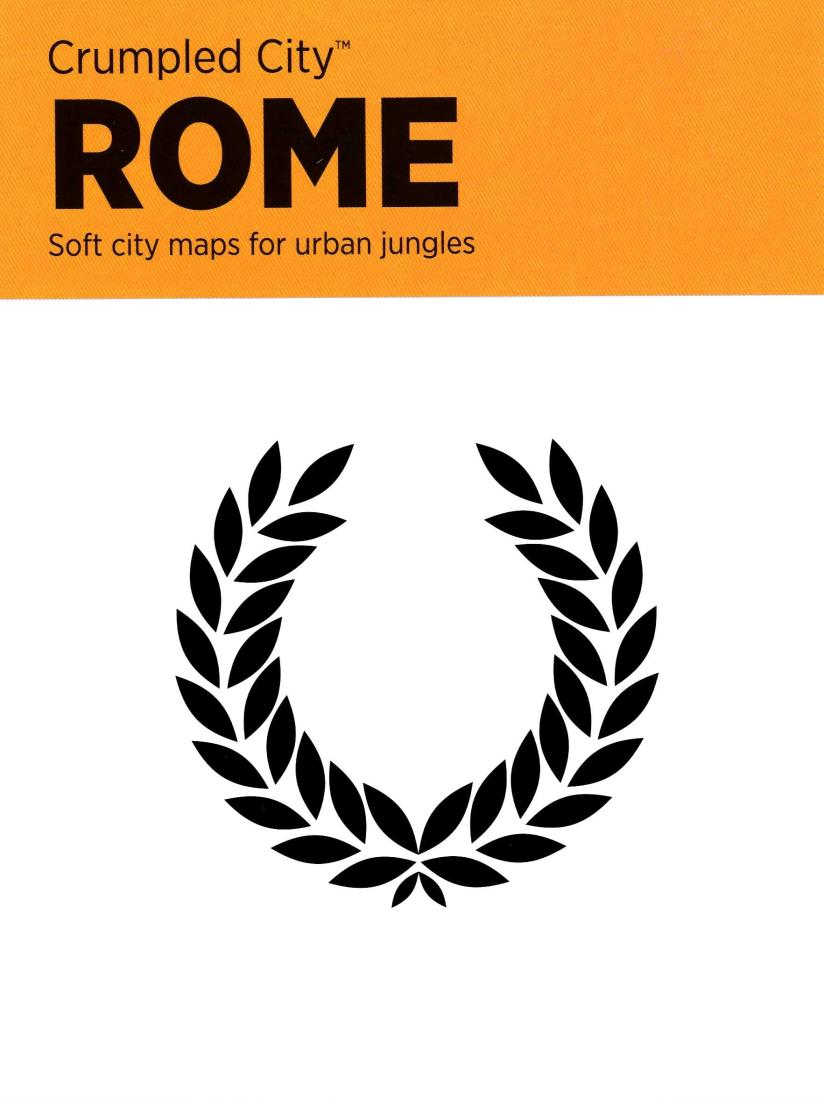 Rome Italy Crumpled City Map By Palomar Srl