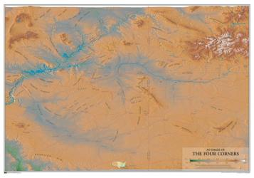 Geographic Image of the Four Corners by Time Traveler Maps