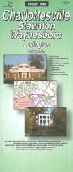 Charlottesville, Virginia Street Map by Seeger Map Company