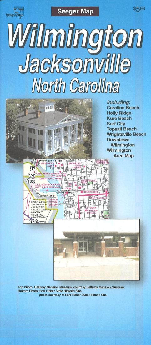 Wilmington, North Carolina Street Map by Seeger Map Company on map of historic southport nc, map of historic downtown new bern nc, map of historic downtown huntsville al,