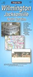 Wilmington, North Carolina Street Map by Seeger Map Company
