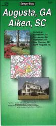 Augusta, Georgia and Aiken, South Carolina by The Seeger Map Company Inc.