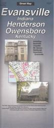 Evansville, Indiana and Henderson and Owensboro, Kentucky by The Seeger Map Company Inc.