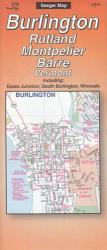 Burlington, Rutland, Montpelier and Barre, Vermont by The Seeger Map Company Inc.