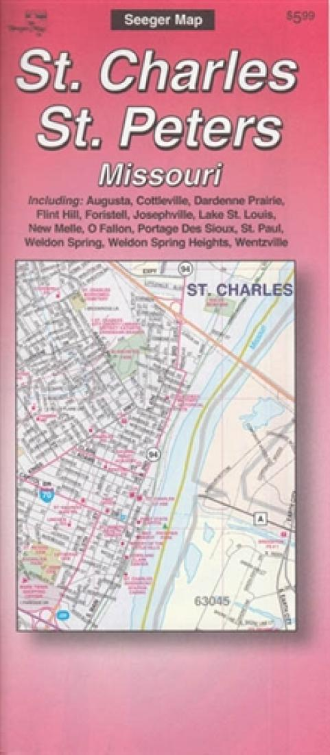 St Peters Missouri Map.St Charles And St Peters Missouri By The Seeger Map Company Inc