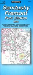 Sandusky, Fremont and Port Clinton, Ohio by The Seeger Map Company Inc.