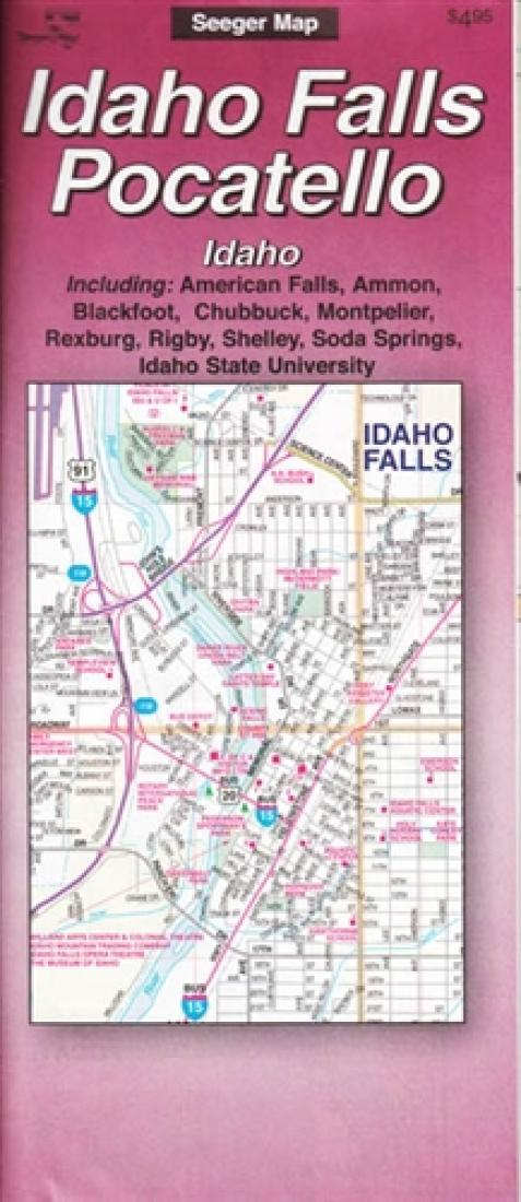 American Map Company Inc.Idaho Falls And Pocatello Idaho By The Seeger Map Company Inc