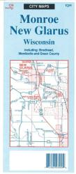 Monroe-New Glarus, Wisconsin by The Seeger Map Company Inc.