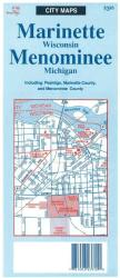 Marinette-Menominee,WI by The Seeger Map Company Inc.