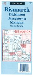 Bismarck, Dickinson, Jamestown, and Mandan, North Dakota by The Seeger Map Company Inc.