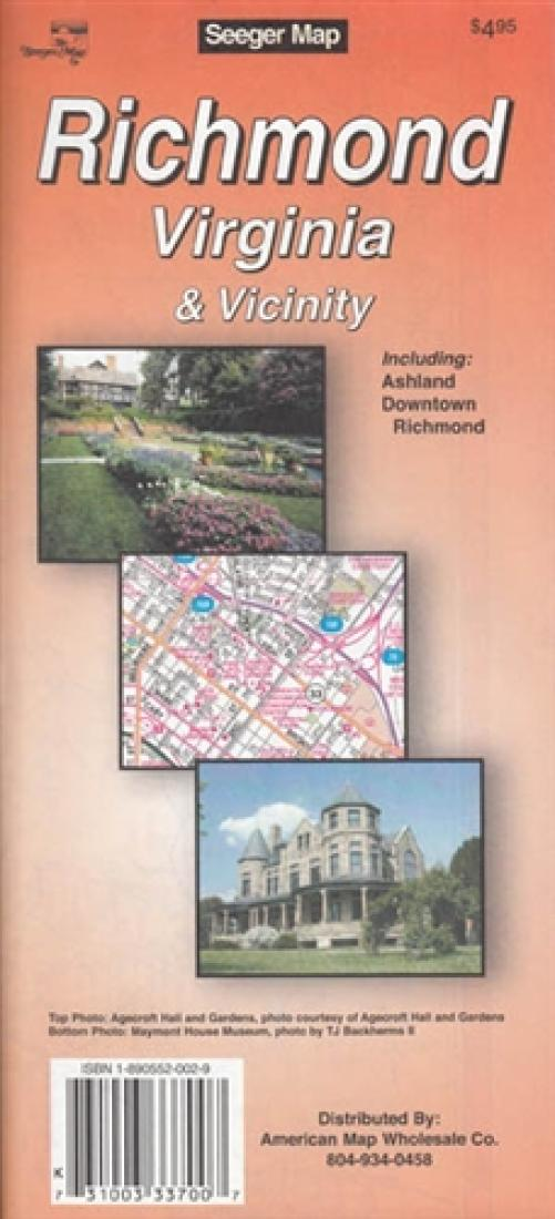 American Map Company Inc.Richmond Virginia And Vicinity By The Seeger Map Company Inc