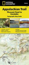 Appalachian Trail Topographic Map Guide, Pleasant Pond to Katahdin by National Geographic Maps