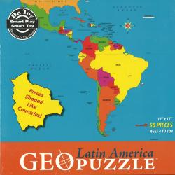 Latin America, Political, puzzle by