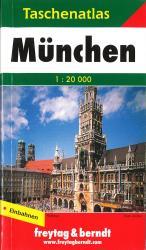 Munich, Germany, Small Pocket Atlas by Freytag, Berndt und Artaria