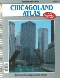 Chicagoland, Illinois, Atlas, laminated by Kappa Map Group