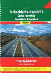 Czech Republic, Road Atlas by Freytag, Berndt und Artaria
