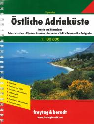 Adriatic Coast, Eastern, Atlas by Freytag, Berndt und Artaria