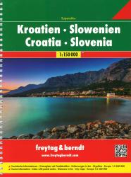 Croatia and Slovenia, Atlas by Freytag, Berndt und Artaria