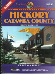 Hickory and Catawba County, North Carolina, Atlas by Map Supply, Inc.