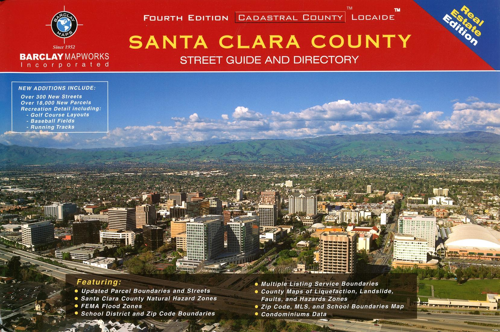 Santa Clara County California Street Guide By Barclay Maps
