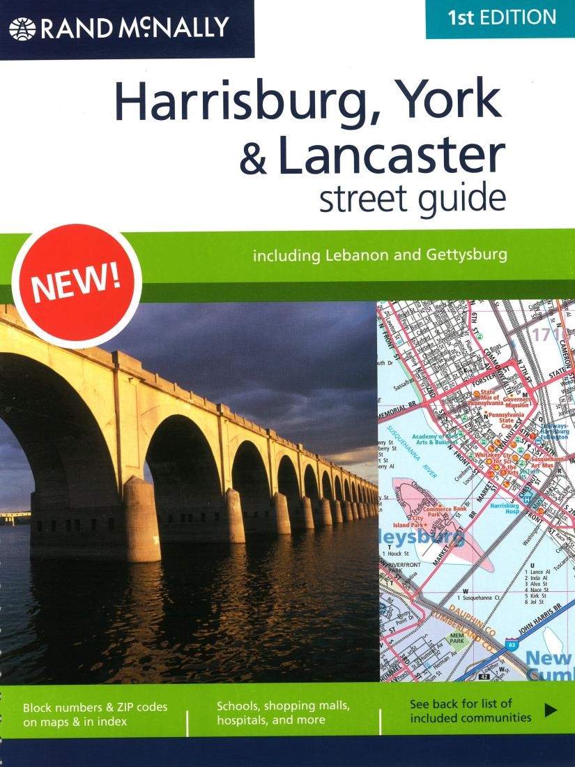 York And Harrisburg Pennsylvania Street Guide Spiral Bound By