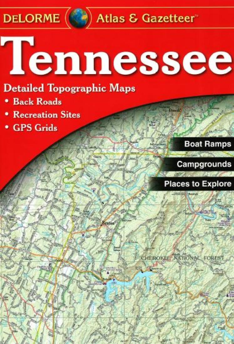 Tennessee, Atlas and Gazetteer by DeLorme on