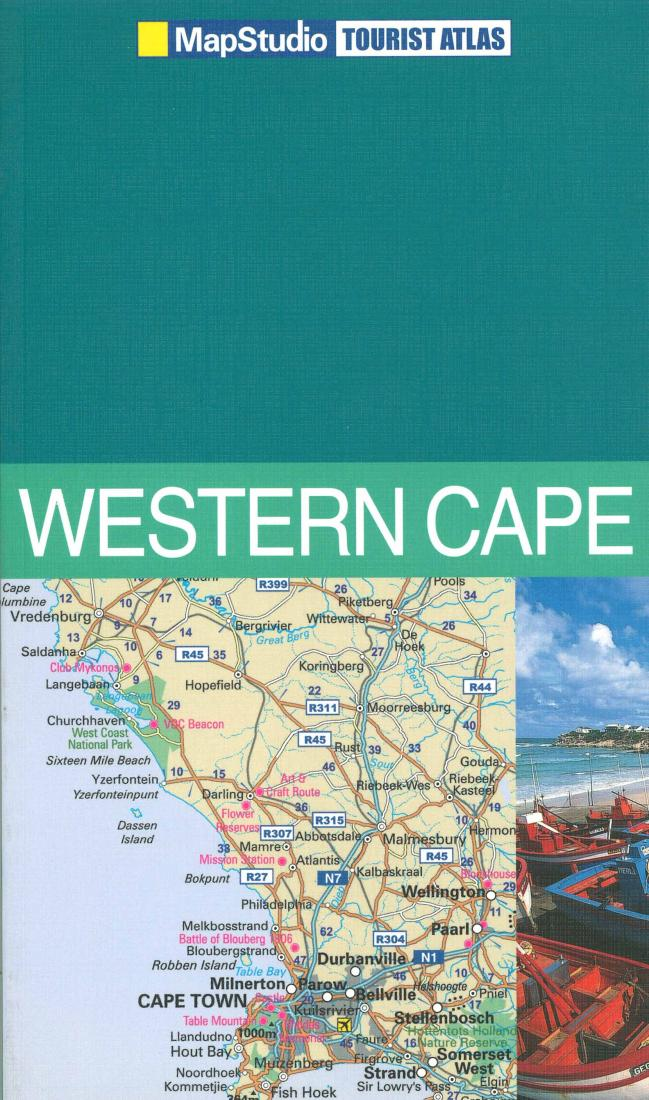Western Cape South Africa Tourist Atlas By Map Studio